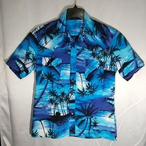 Handmade Hawaiian print shirt Cotton Large